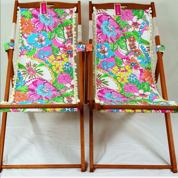 e190b7b62bbfd9 Lilly Pulitzer for Target Other | Lilly Pulitzer Teak Beach Chairs ...